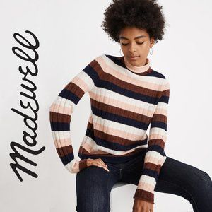 Madewell Turtleneck Stripe Print Sweater Size S